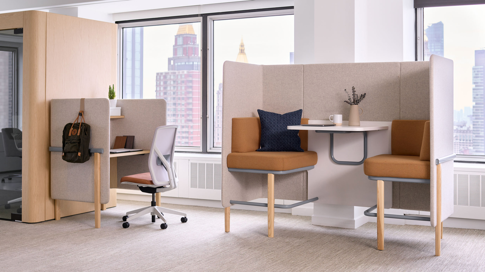 New York showroom work focus area and collaborative zone
