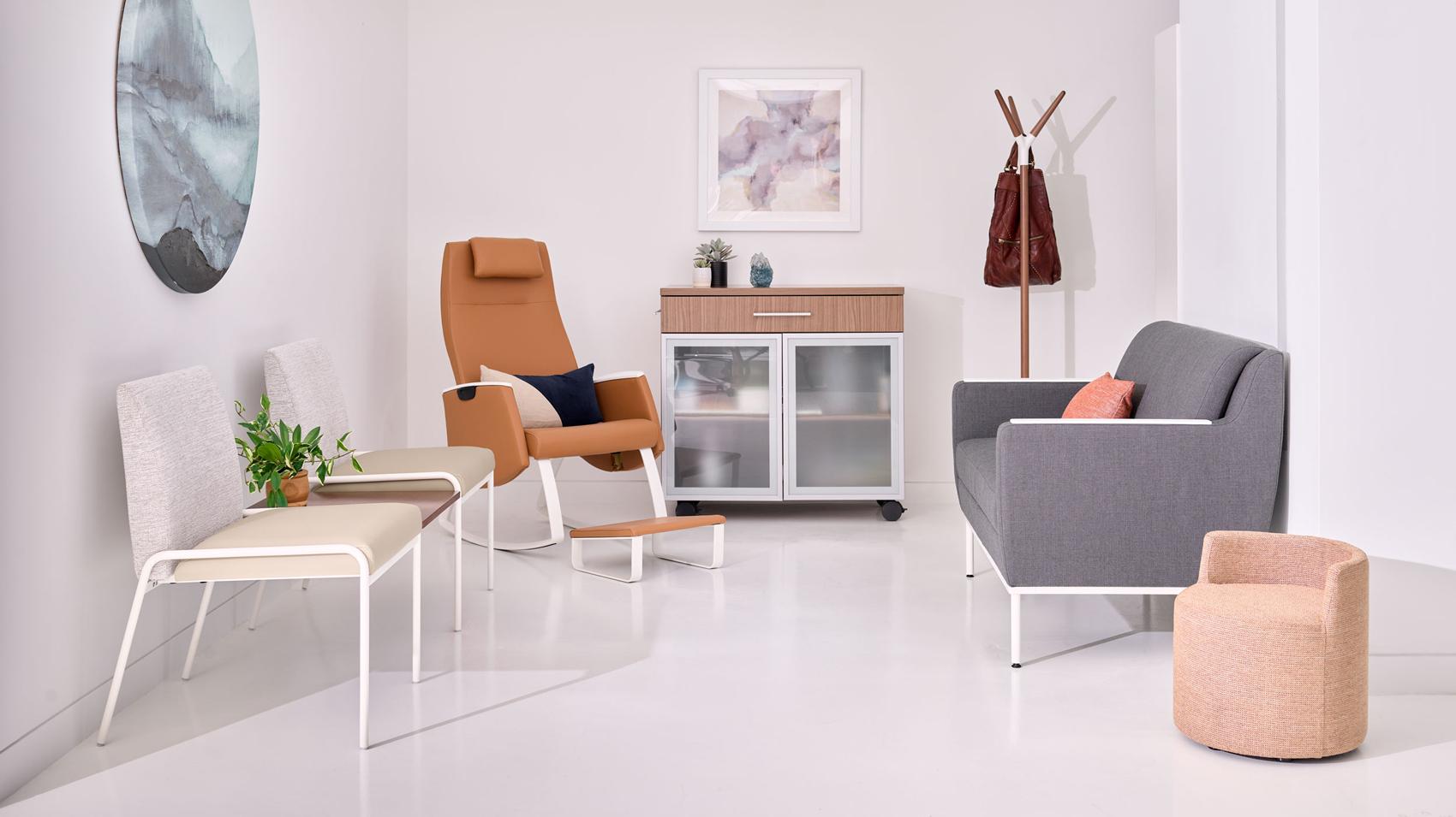 Healthcare lounge area