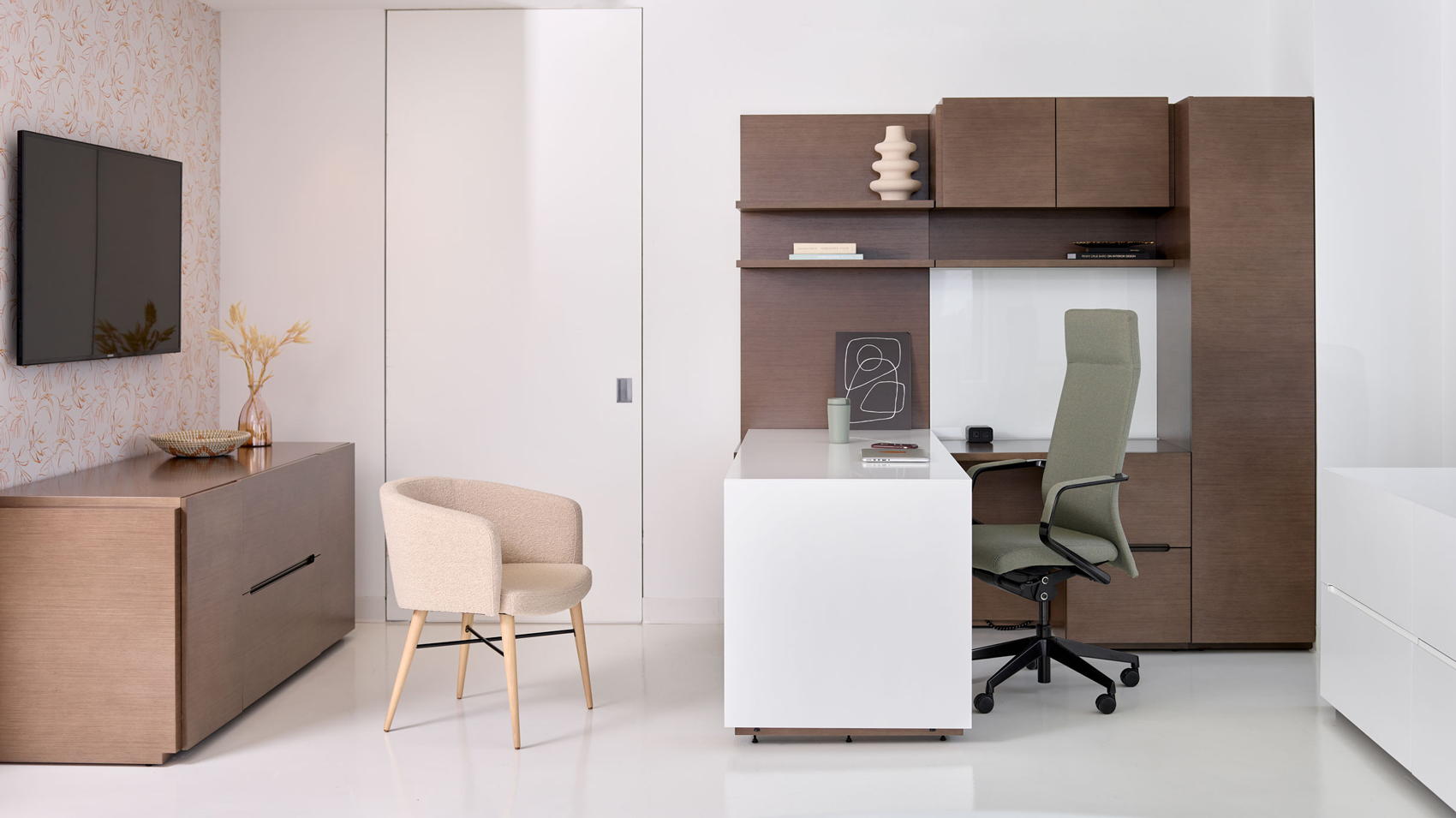 Executive private office and storage area