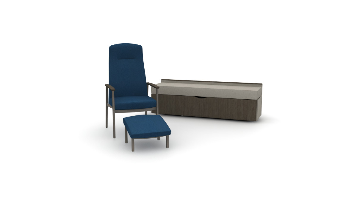 Serony, Metal patient ottoman, and Whisper