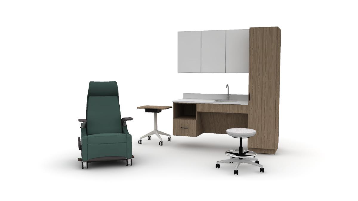 Lasata, Stray physician's stool, Stray mobile table, ...