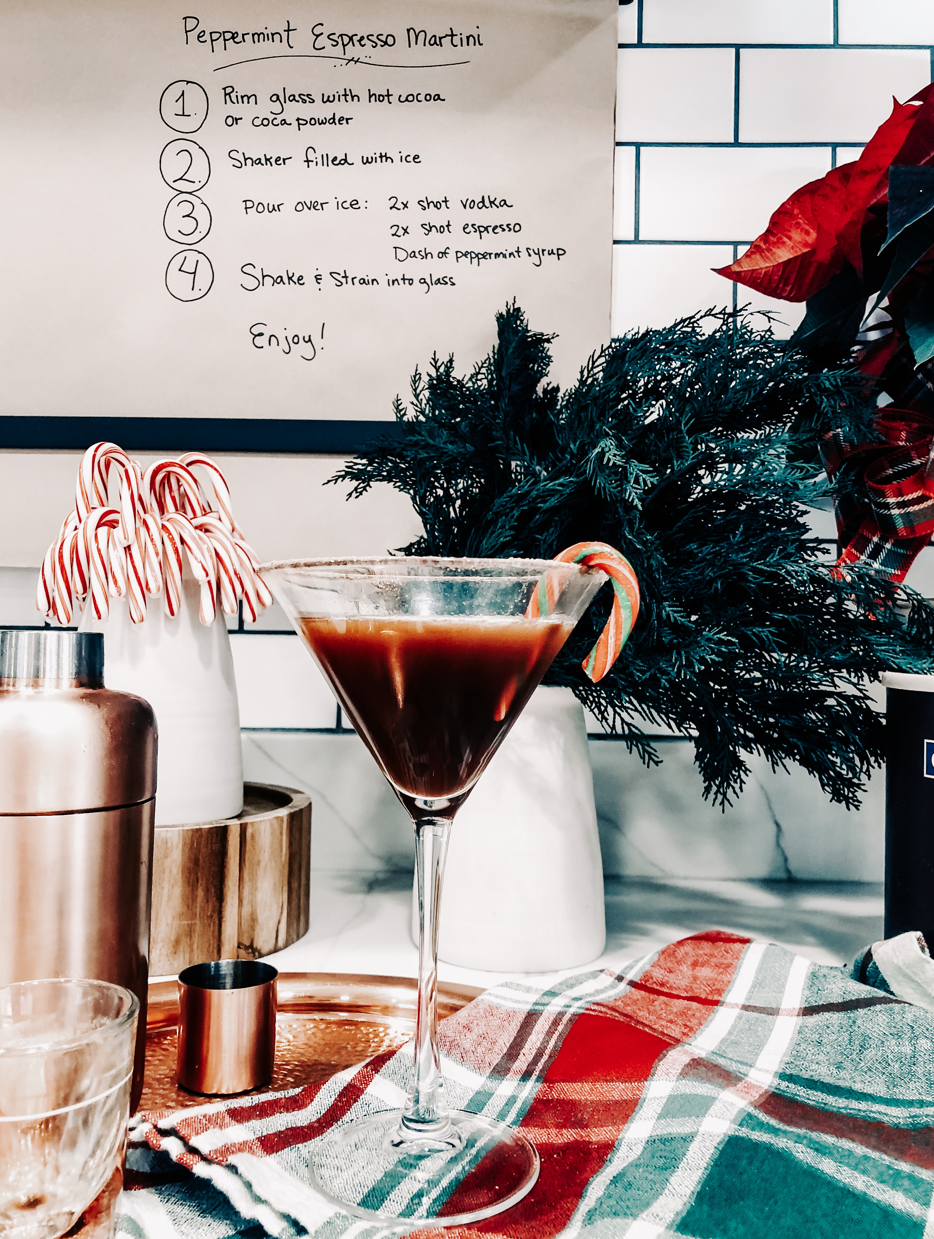 Festive holiday drink recipe