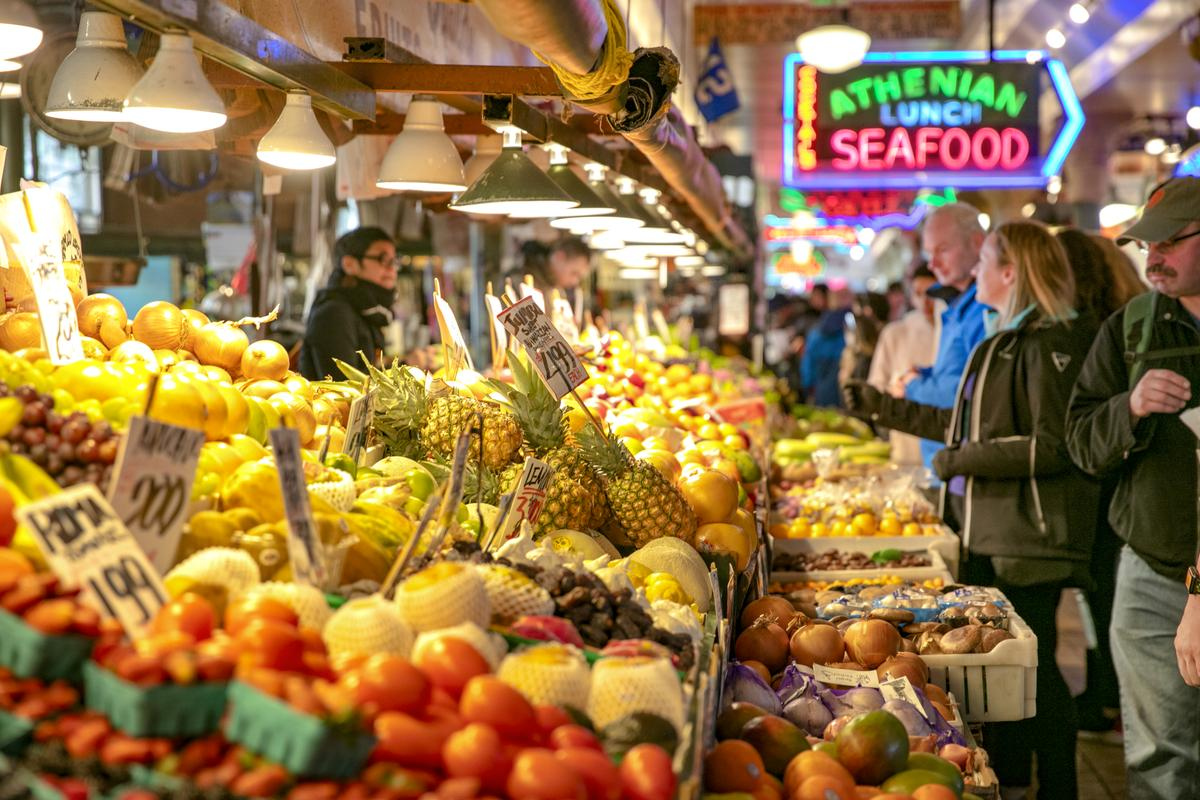 Open market in Seattle