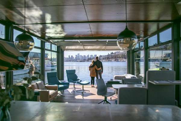 Balancing busy lives with a houseboat