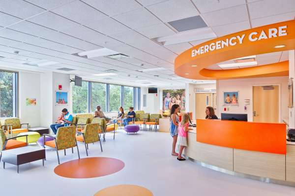 Hospital emergency room waiting area