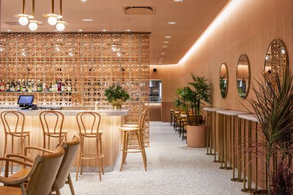 Restaurant dining room bohemian style