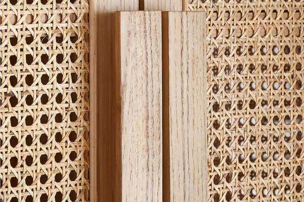 Cane pattern on cabinet doors