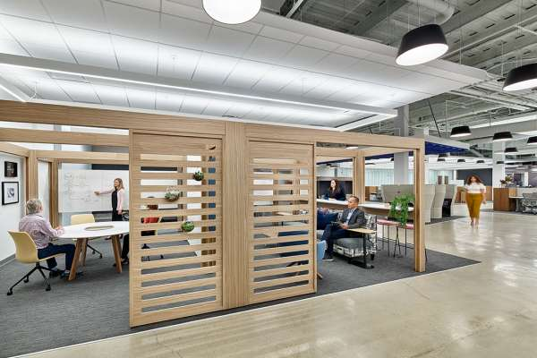 Soft architectural structure within workplace design