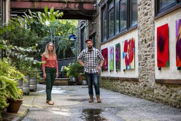 Alleyway highlighting art from Fresh Artists in Philadelphia, PA