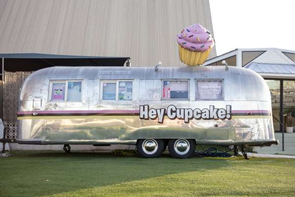 Camper airstream turned into cupcake shop