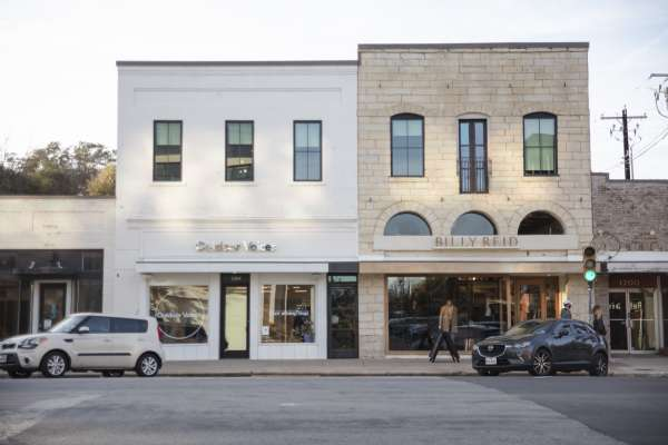 Local Austin stores, Billy Reid and Outdoor Voices