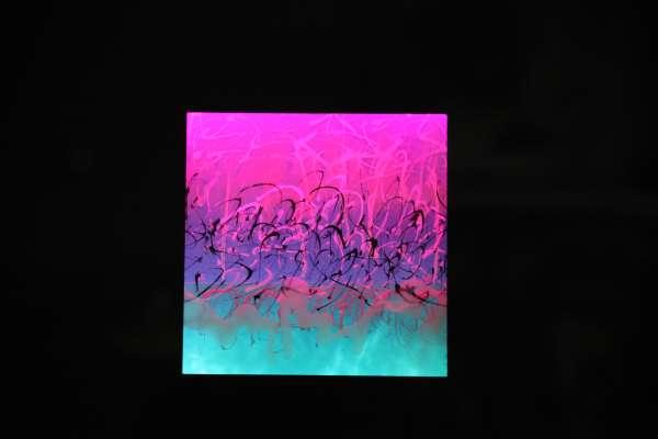 Lyn Godley artwork with light shining through