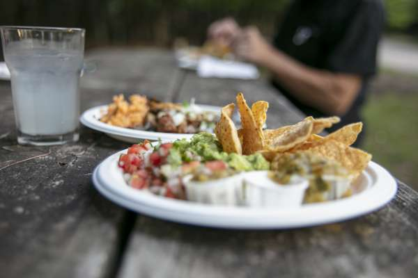 Mexican food community dinner at Ox-Bow