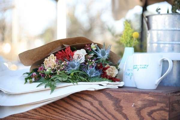 Flower details and coffee mug