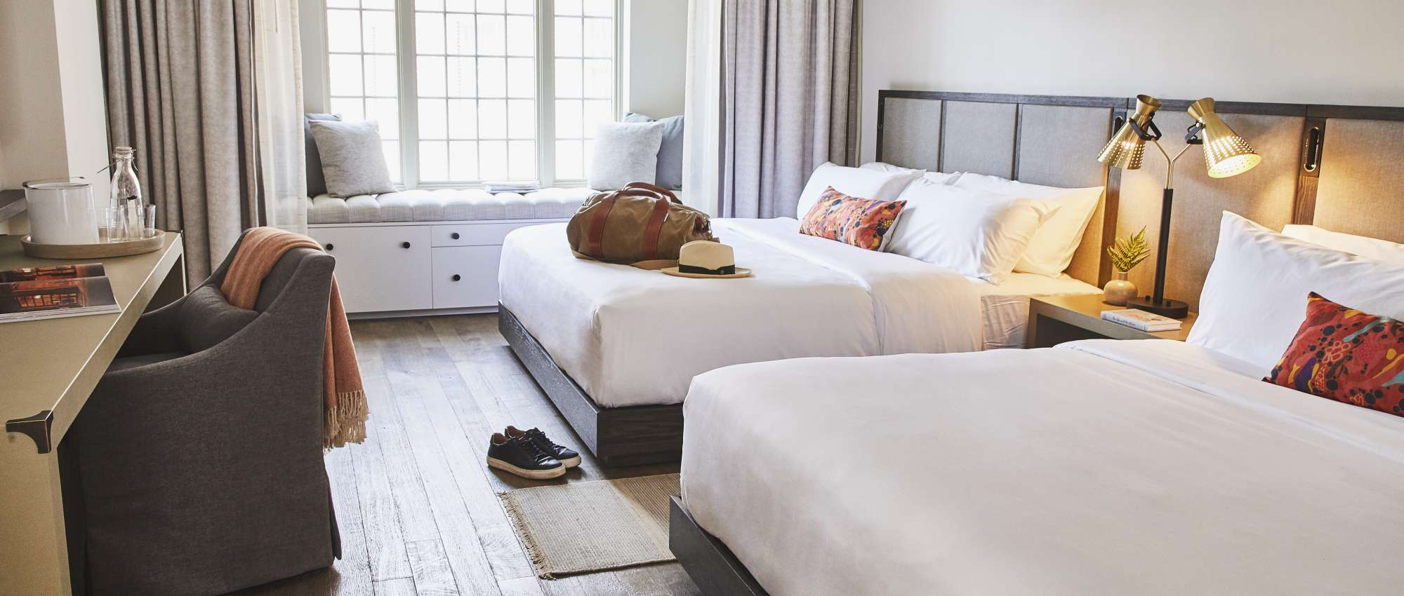 Guest room at The Alida, Savannah, a Tribute Portfolio Hotel