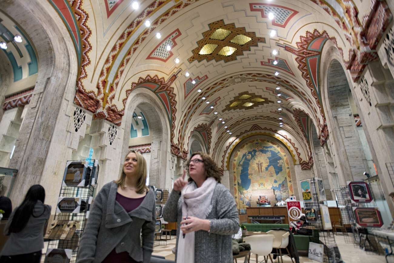 Shannon Haag and Erica Kimber in the Guardian Building