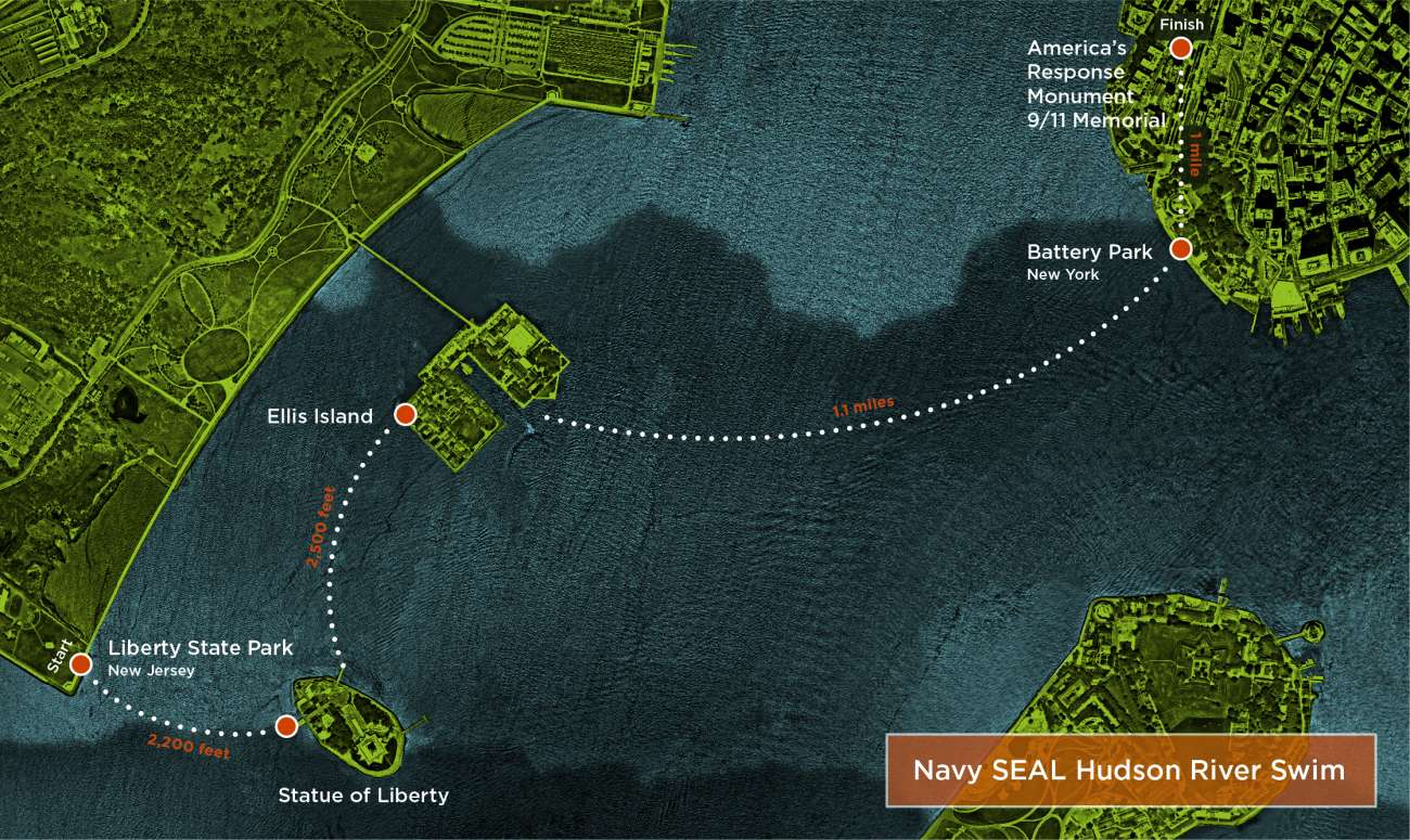 Map of Navy SEAL swim