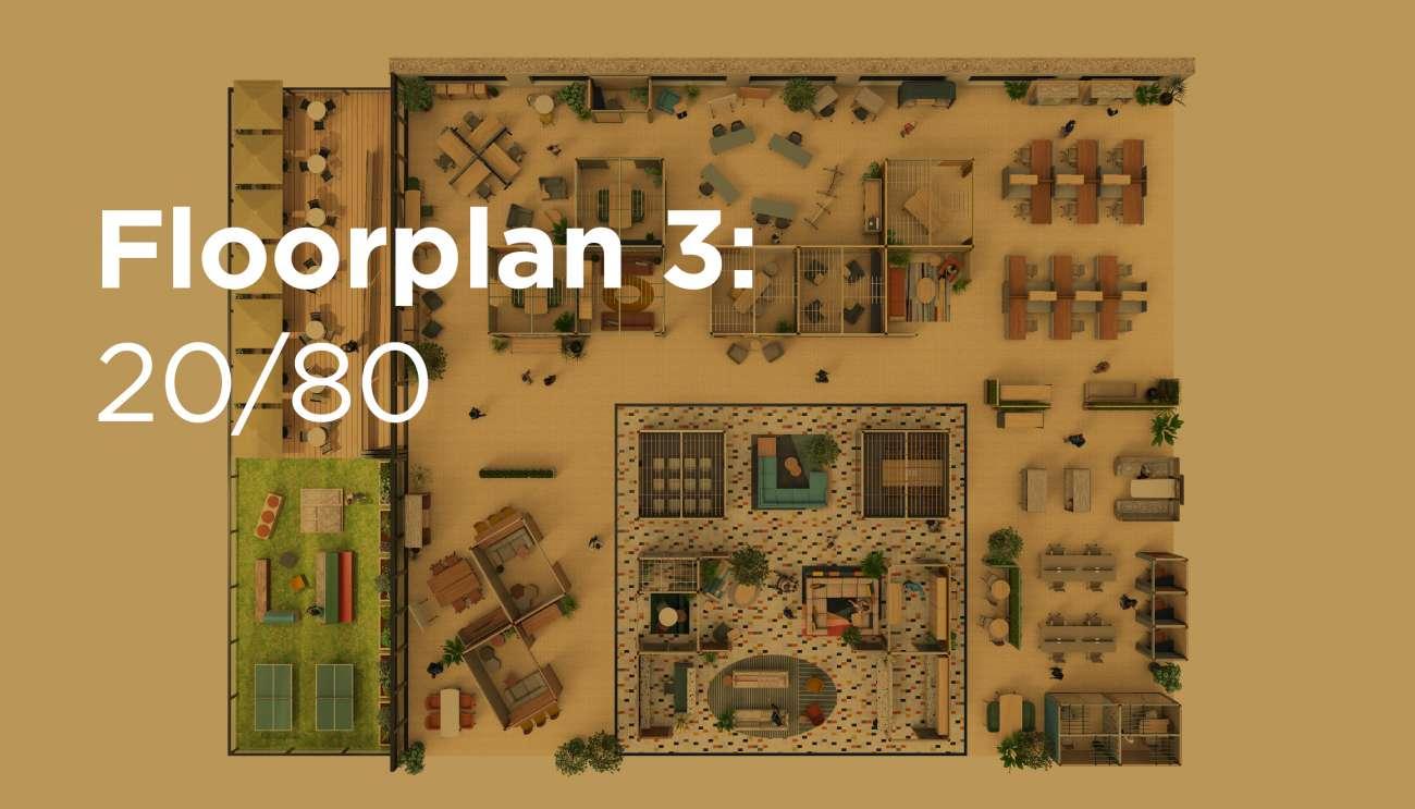 Floorplan 3: 20/80