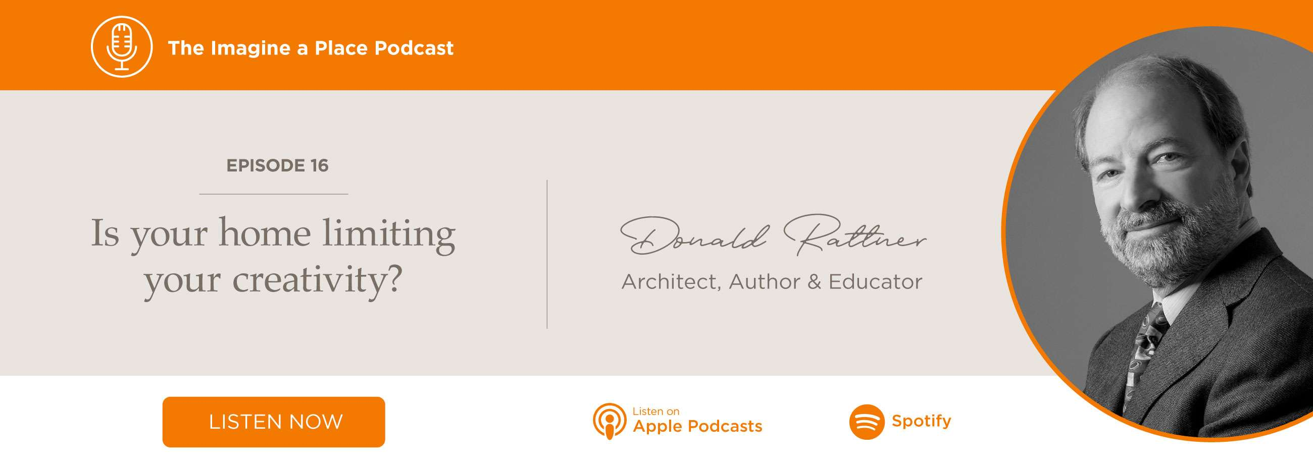 Donald Rattner (My Creative Space): Is your home limiting your creativity?