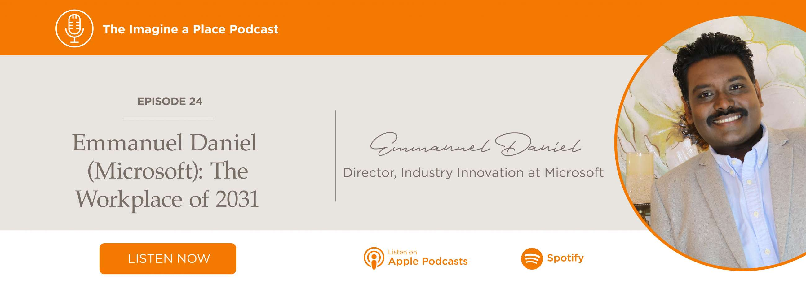 Imagine a Place Podcast with Emmanuel Daniel of Microsoft