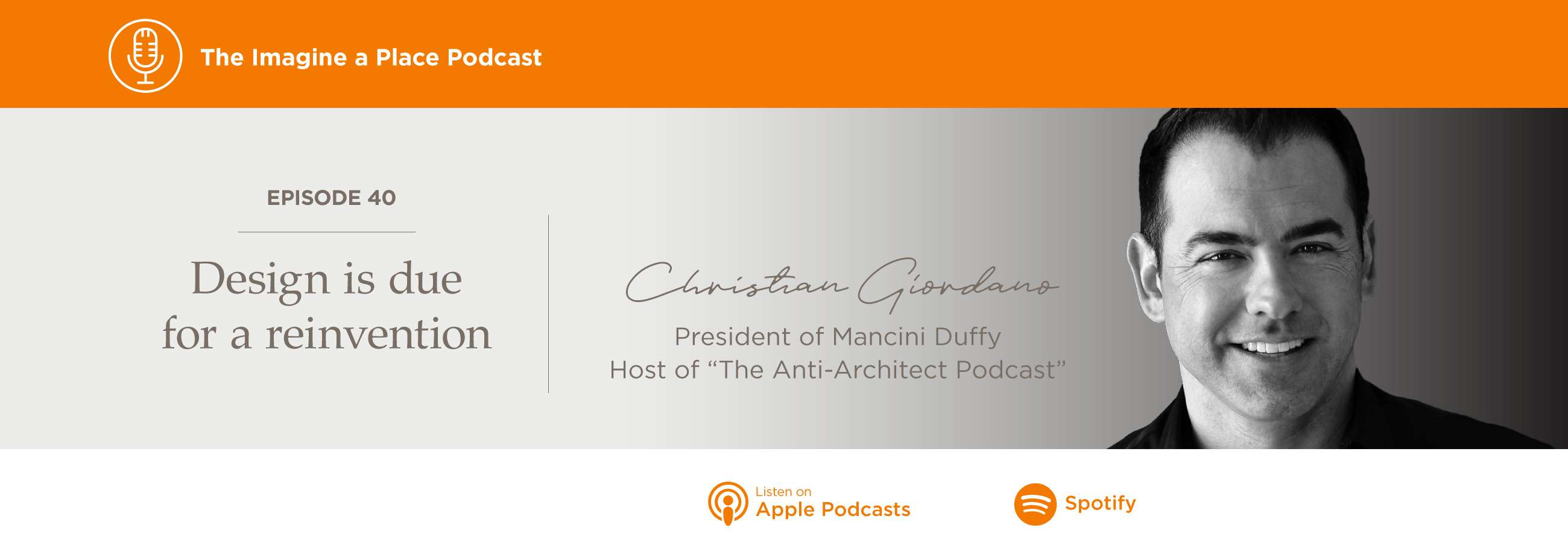 Imagine a Place Podcast with Christian Giordano of Mancini Duffy