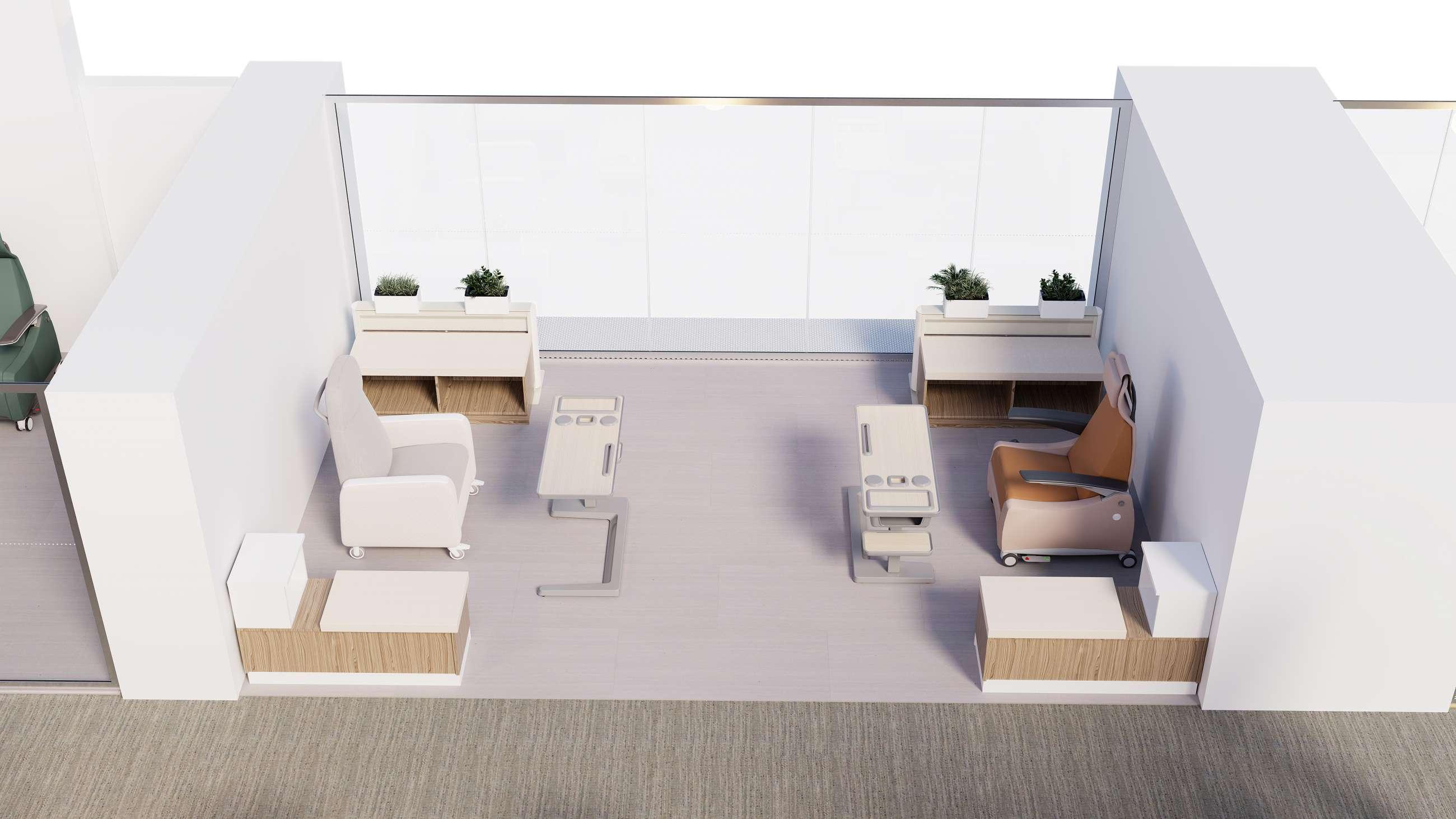 Treatment spaces
