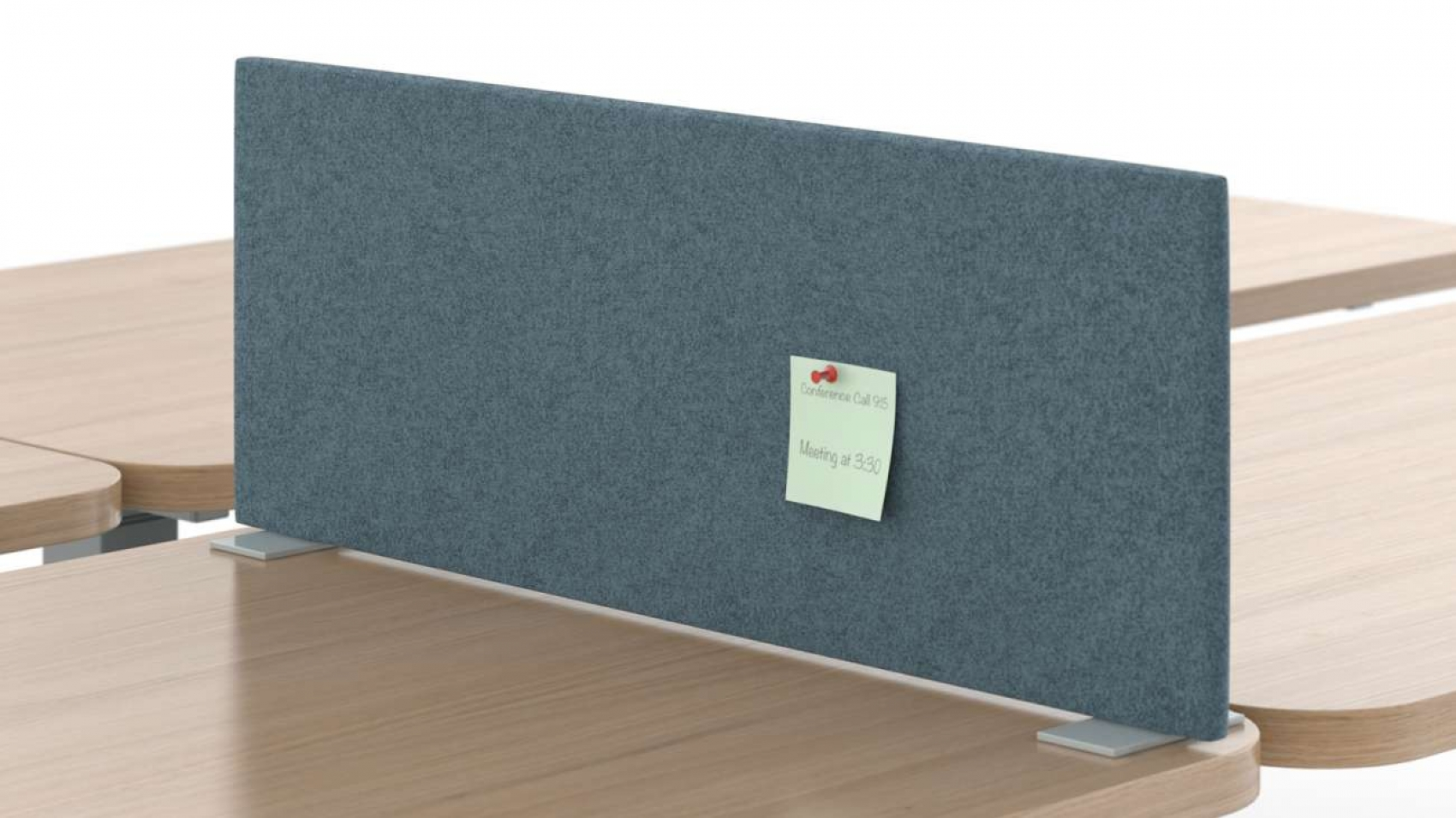 Sit-on worksurface privacy screen